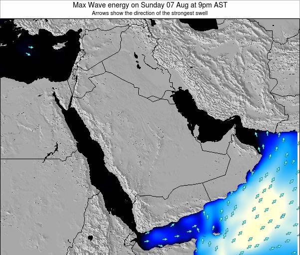 Kuwait Max Wave energy on Sunday 15 Dec at 3am AST