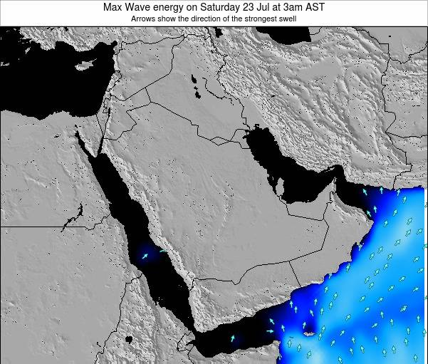 Kuwait Max Wave energy on Wednesday 03 May at 9am AST