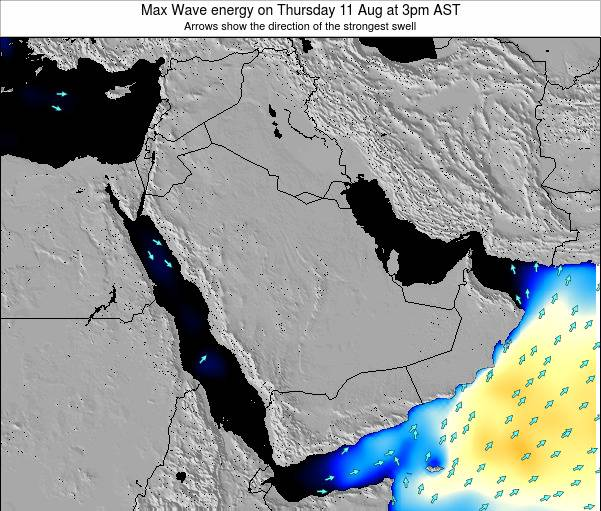Kuwait Max Wave energy on Friday 13 Dec at 9pm AST