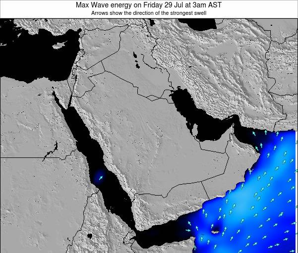Kuwait Max Wave energy on Tuesday 25 Jun at 9am AST