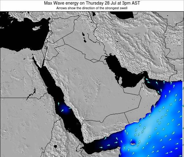 Kuwait Max Wave energy on Friday 25 Apr at 9am AST