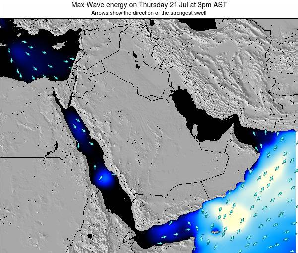 Kuwait Max Wave energy on Monday 23 Oct at 9am AST
