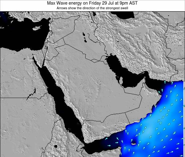 Kuwait Max Wave energy on Tuesday 05 Aug at 3am AST