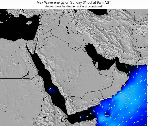 Kuwait Max Wave energy on Sunday 16 Mar at 9pm AST