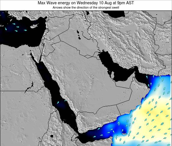 Kuwait Max Wave energy on Thursday 12 Dec at 3pm AST