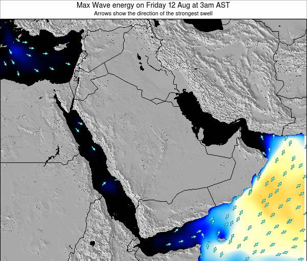 Kuwait Max Wave energy on Saturday 20 Feb at 3am AST
