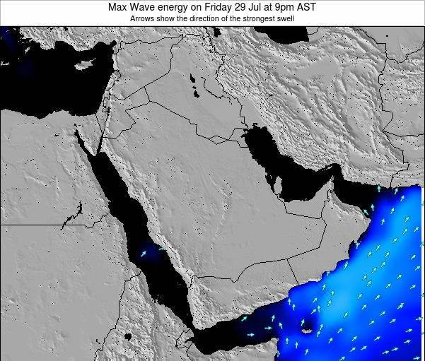 Kuwait Max Wave energy on Friday 25 Apr at 3am AST