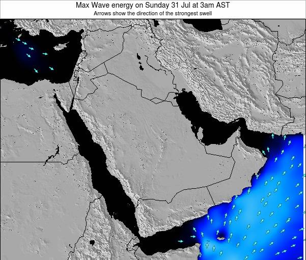 Kuwait Max Wave energy on Monday 28 Jul at 9pm AST