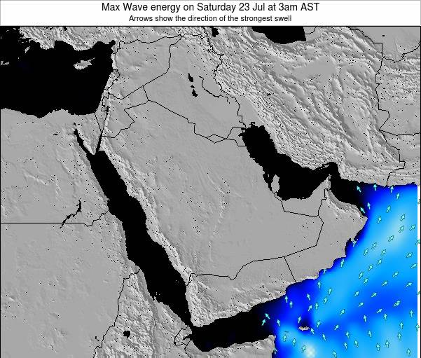 Kuwait Max Wave energy on Saturday 01 Jun at 9am AST