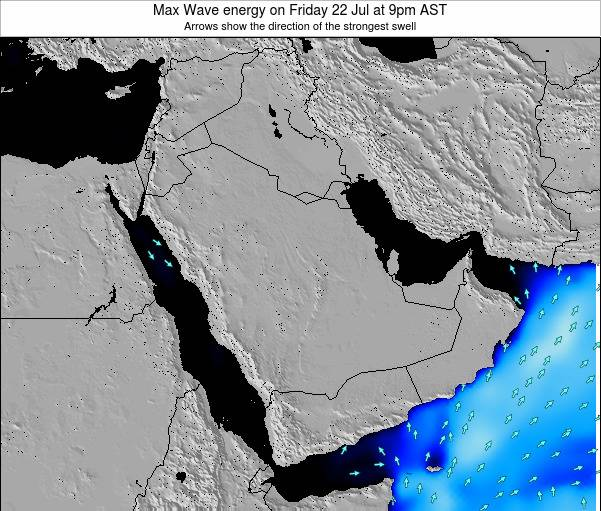 Kuwait Max Wave energy on Thursday 13 Mar at 9pm AST