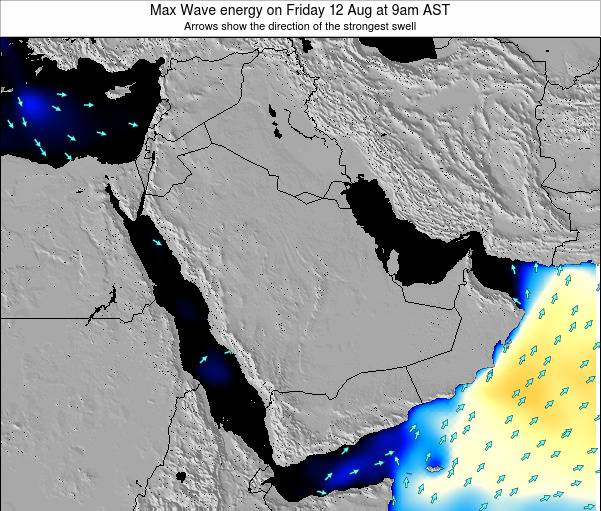 Kuwait Max Wave energy on Tuesday 29 Jul at 9am AST
