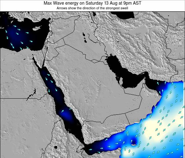 Kuwait Max Wave energy on Sunday 24 Dec at 3am AST map
