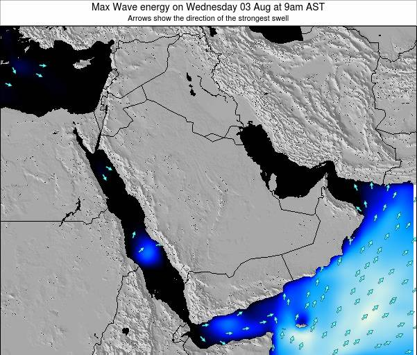 Kuwait Max Wave energy on Monday 30 Jan at 9am AST