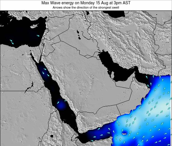 Kuwait Max Wave energy on Saturday 10 Dec at 9pm AST