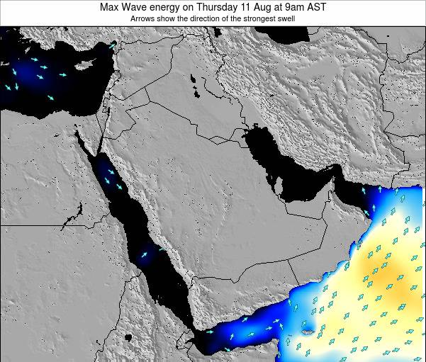 Kuwait Max Wave energy on Friday 06 Feb at 9pm AST