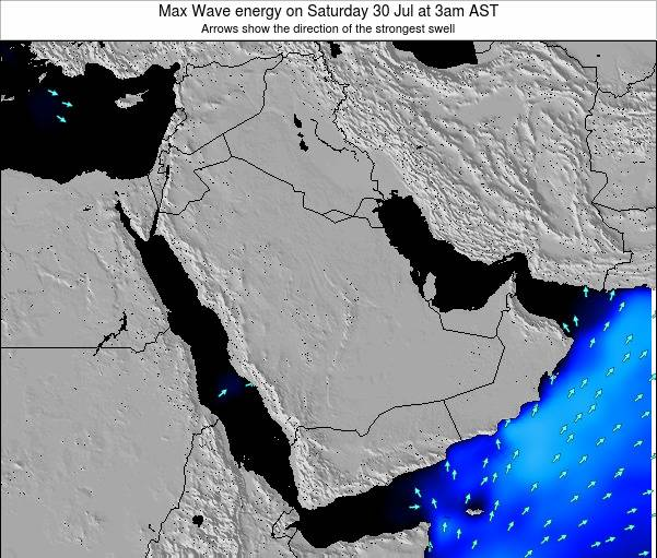 Kuwait Max Wave energy on Saturday 06 Aug at 9am AST