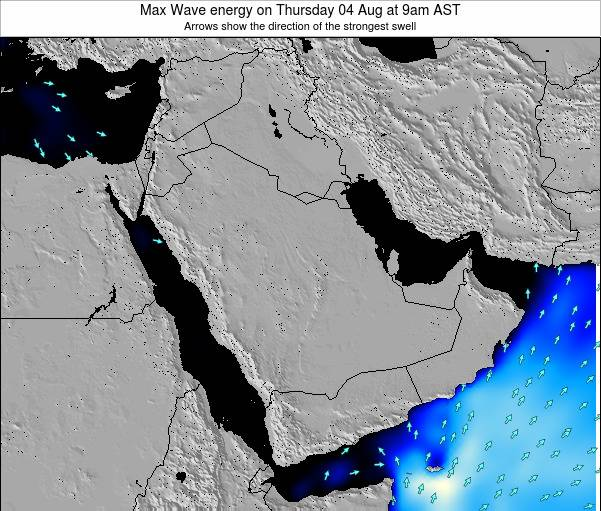 Kuwait Max Wave energy on Thursday 13 Mar at 9am AST