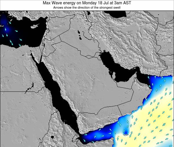 Kuwait Max Wave energy on Saturday 19 Apr at 9pm AST