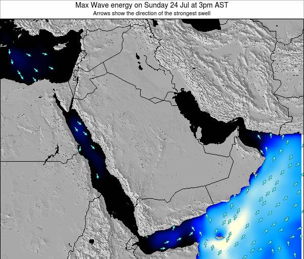 Kuwait Max Wave energy on Thursday 21 Aug at 3am AST