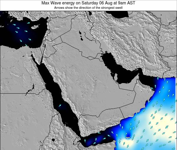 Kuwait Max Wave energy on Thursday 24 Jul at 3pm AST