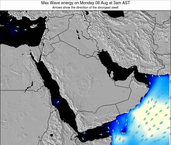 Kuwait Max Wave energy on Monday 10 Mar at 9am AST
