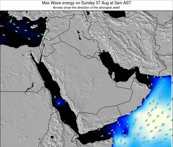 Kuwait Max Wave energy on Friday 29 Jul at 3am AST
