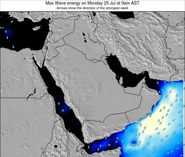 Kuwait Max Wave energy on Wednesday 30 Jul at 3pm AST