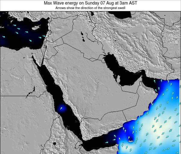 Kuwait Max Wave energy on Tuesday 10 Dec at 3am AST
