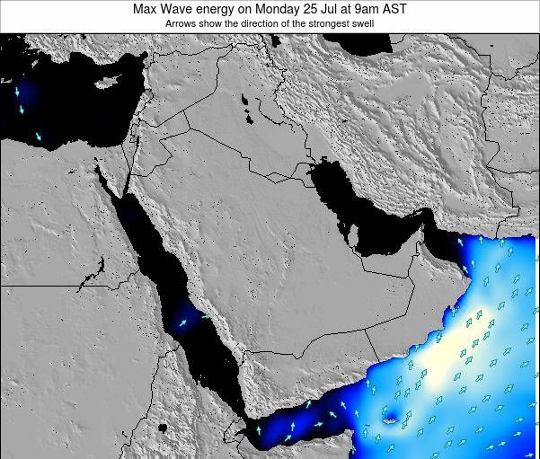 Kuwait Max Wave energy on Saturday 02 Aug at 9am AST