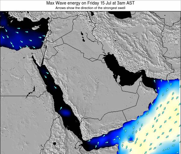 Kuwait Max Wave energy on Sunday 20 Jan at 3pm AST map