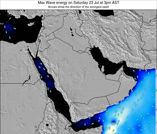 Kuwait Max Wave energy on Wednesday 22 May at 9am AST