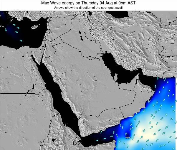 SaudiArabia Max Wave energy on Thursday 13 Dec at 3am AST map