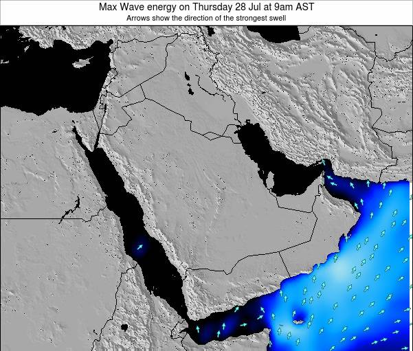 Kuwait Max Wave energy on Tuesday 10 Dec at 3pm AST