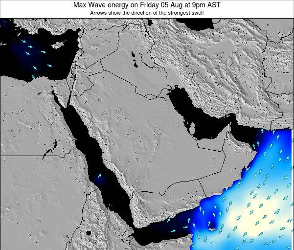 Kuwait Max Wave energy on Sunday 29 Mar at 9pm AST