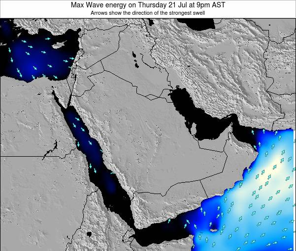 Kuwait Max Wave energy on Saturday 27 Aug at 9am AST