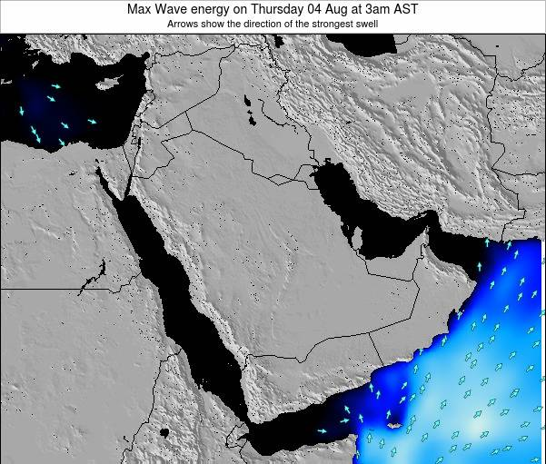 Kuwait Max Wave energy on Friday 01 Aug at 3pm AST