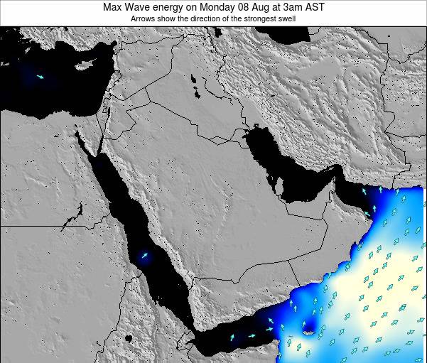 Kuwait Max Wave energy on Wednesday 23 Apr at 3pm AST