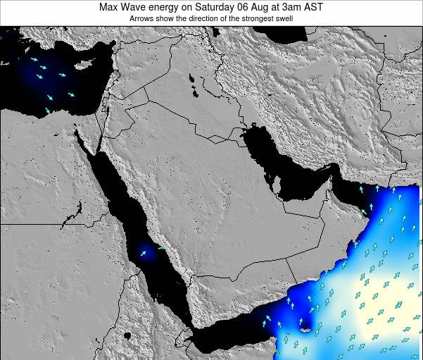 Kuwait Max Wave energy on Saturday 08 Mar at 3am AST