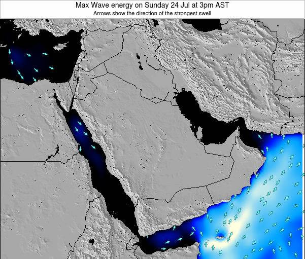 Kuwait Max Wave energy on Thursday 08 Dec at 9pm AST