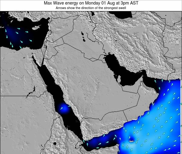 Kuwait Max Wave energy on Tuesday 28 May at 9pm AST