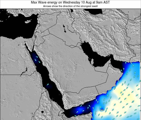 Kuwait Max Wave energy on Wednesday 07 Dec at 3am AST