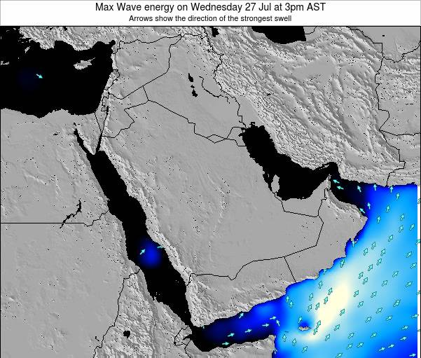 Kuwait Max Wave energy on Tuesday 22 Apr at 9pm AST
