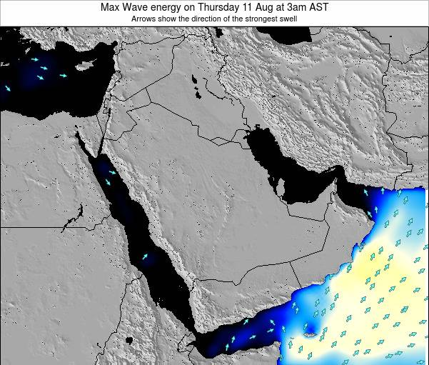 Kuwait Max Wave energy on Saturday 15 Mar at 9pm AST