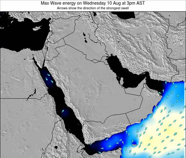 Kuwait Max Wave energy on Monday 01 Aug at 3am AST