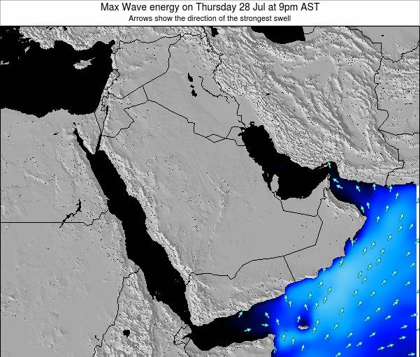Kuwait Max Wave energy on Tuesday 10 Dec at 9am AST