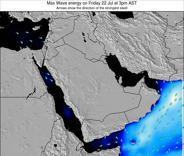 Kuwait Max Wave energy on Friday 16 Oct at 9pm AST