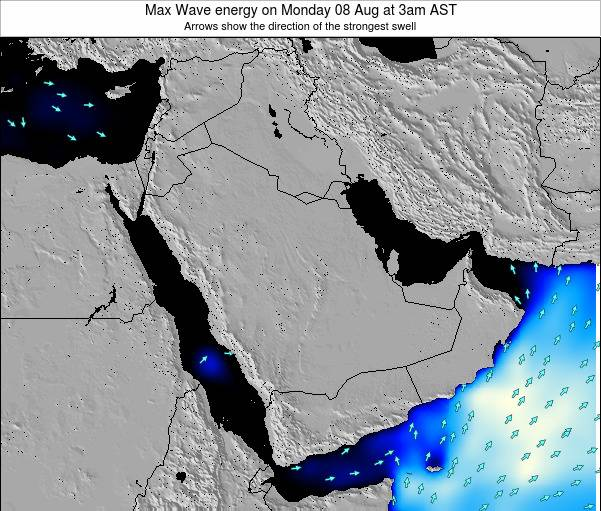 Kuwait Max Wave energy on Friday 01 Aug at 9pm AST