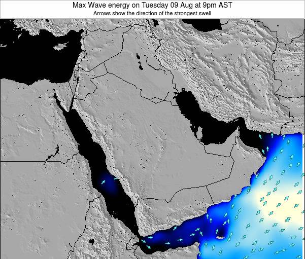 Kuwait Max Wave energy on Thursday 13 Mar at 3pm AST