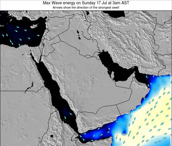 Kuwait Max Wave energy on Thursday 03 Sep at 9pm AST