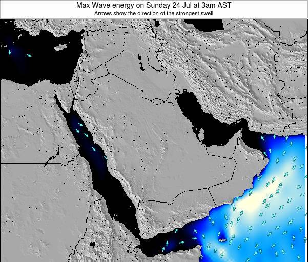 Kuwait Max Wave energy on Sunday 27 Apr at 3am AST